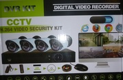видеонаблюдения,  для улицы 4 камеры с видеорегистратором  и проводам торг